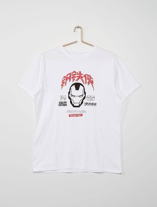 T-shirt 'Iron man'                             blanc