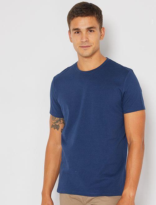 T-shirt jacquard éco-conçu                                                                                         BLEU