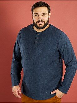 Grande taille homme T-shirt jersey reverse