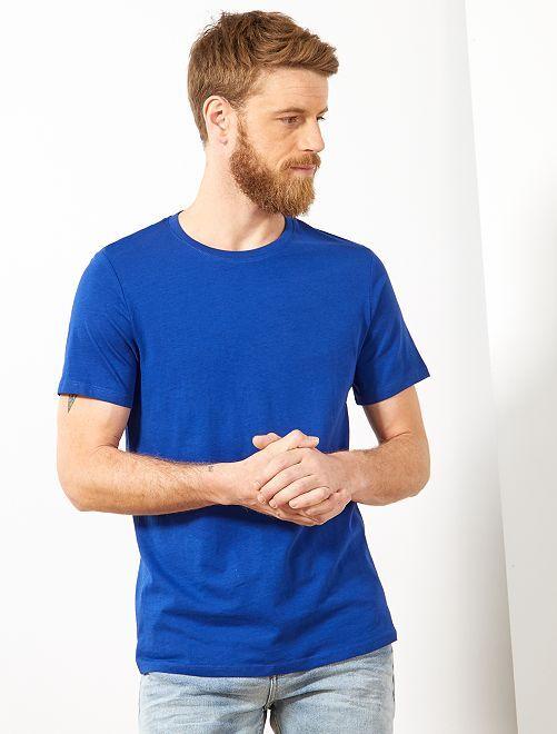 T-shirt jersey uni                                                                                                                                                                                                     bleu