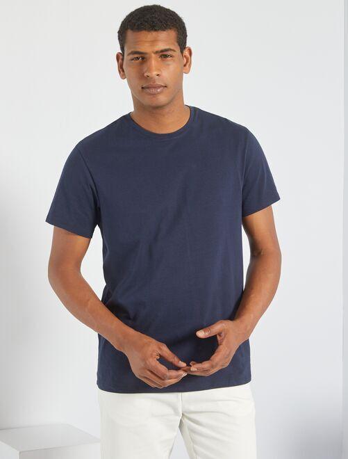 87eb3a710 T-shirt jersey uni Homme - bleu marine - Kiabi - 3,00€