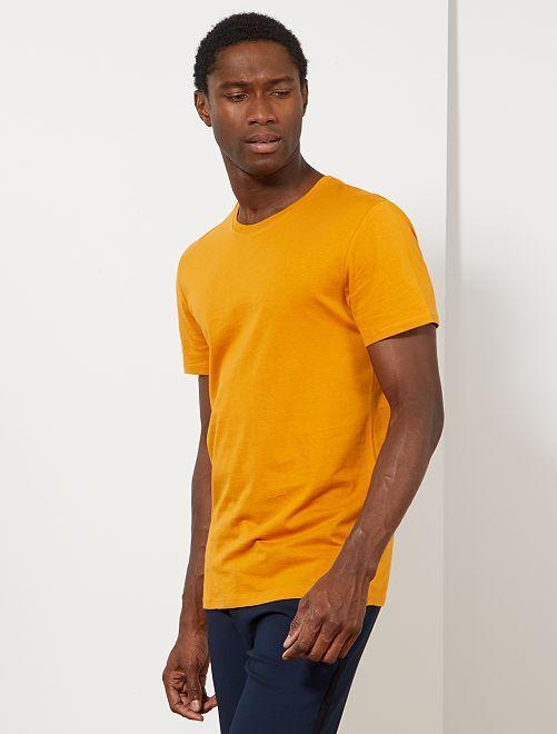 T-shirt jersey uni                                                                                                                                                                                                                 jaune