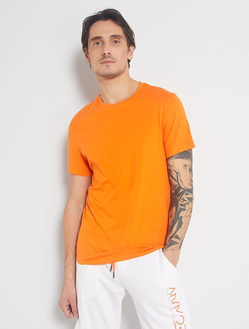 T-shirt jersey uni                                                                                                                                                                                                                                                                             orange