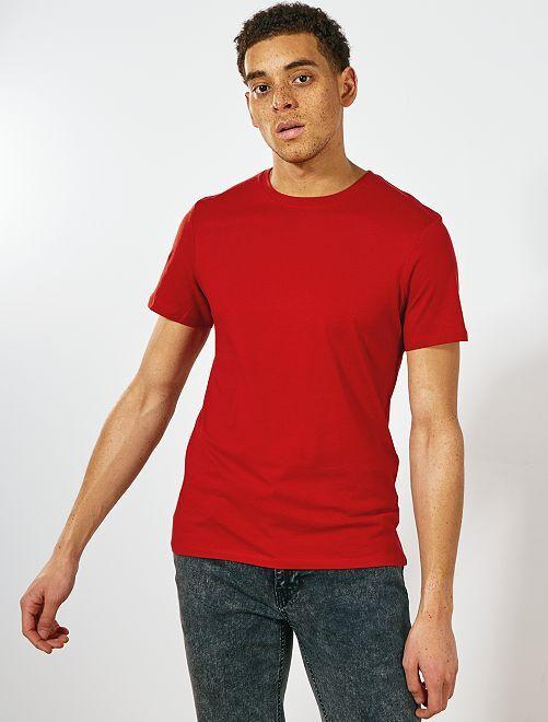 T-shirt jersey uni                                                                                                                                                                                                                                                                 orange ketchup Homme