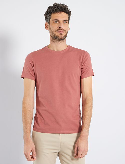 T-shirt jersey uni                                                                                                                                                                                         rose