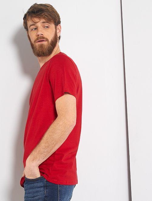 T-shirt jersey uni                                                                                                                                                                                                                                                                             rouge