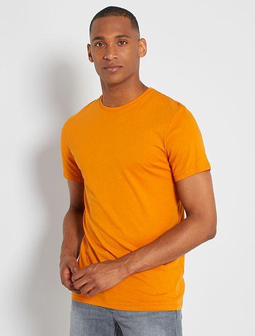 T-shirt jersey uni                                                                                                                                                                                                                             safran