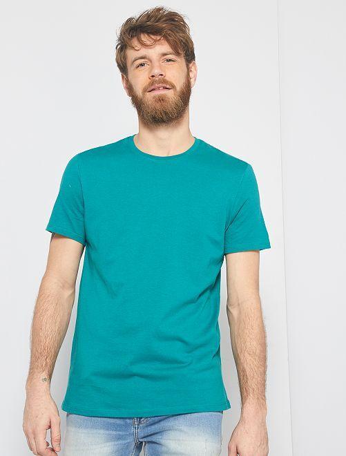T-shirt jersey uni                                                                                                                                                     vert