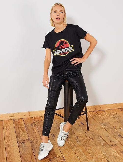 T-shirt 'Jurassic Park'                             noir Femme