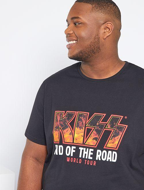 T-shirt 'Kiss'                             noir