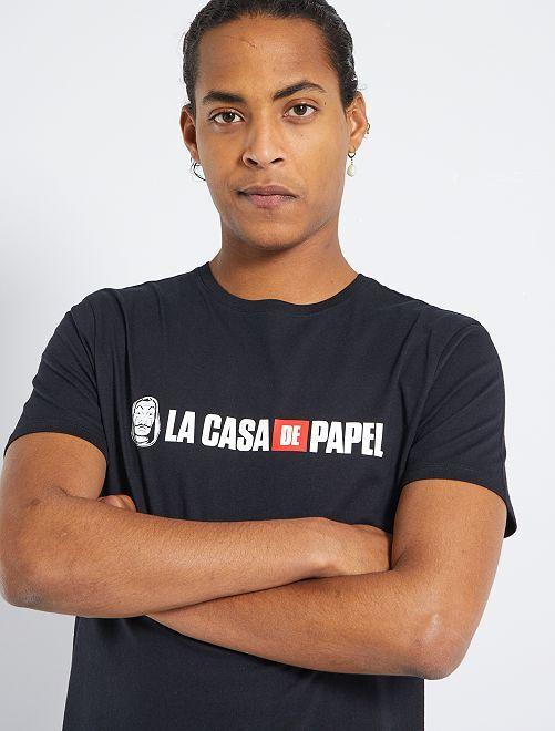 T-shirt 'La casa de papel'                             noir