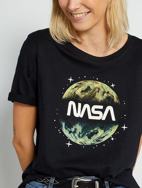 T-shirt la 'Nasa' éco-conçu                             noir