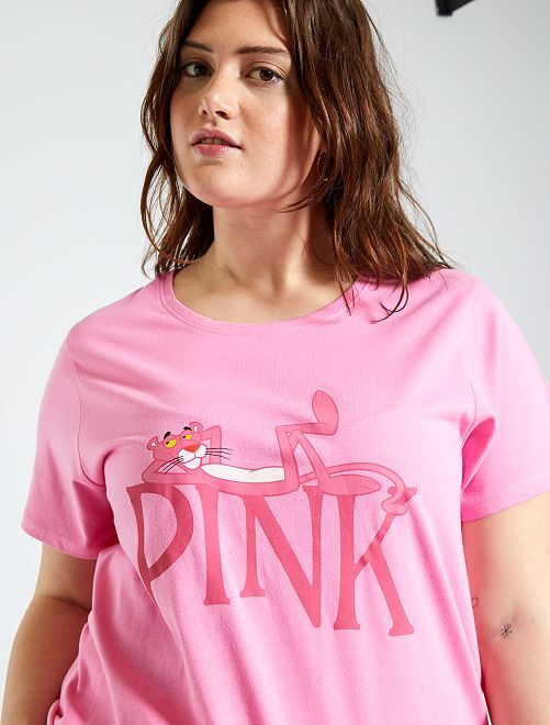 T-shirt 'La Panthère Rose'                                         imprimé rose