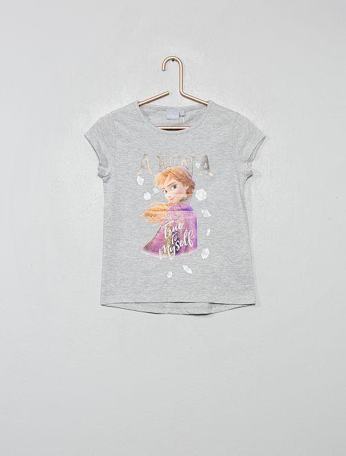 T-shirt 'La Reine des Neiges 2'                     gris chiné