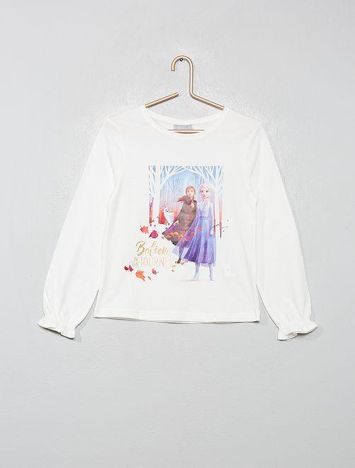 T-shirt 'La Reine des neiges'                                                     blanc