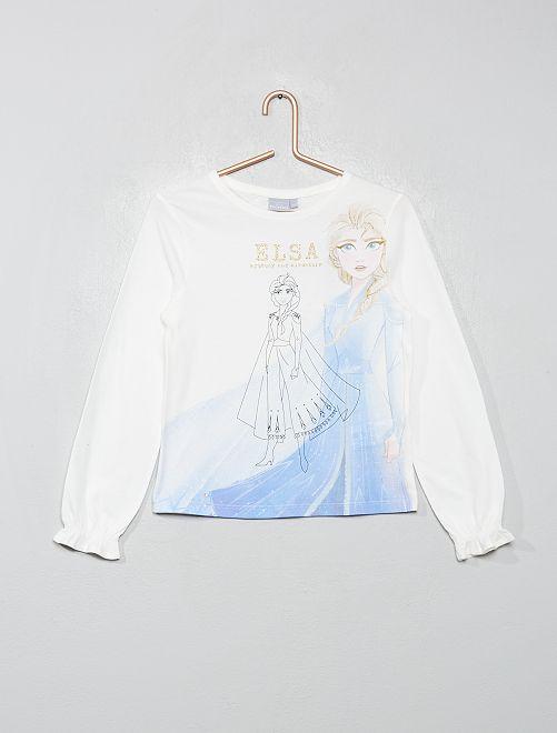T-shirt 'La Reine des neiges'                                                     blanc/elsa
