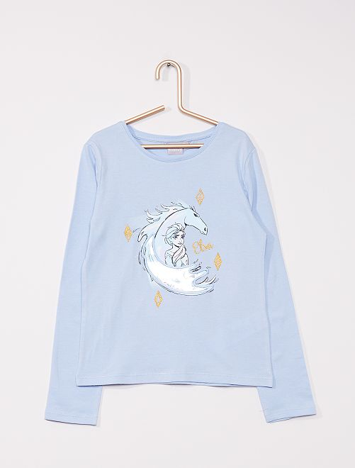 T-shirt 'La Reine des neiges' de 'Disney'                                                                 bleu