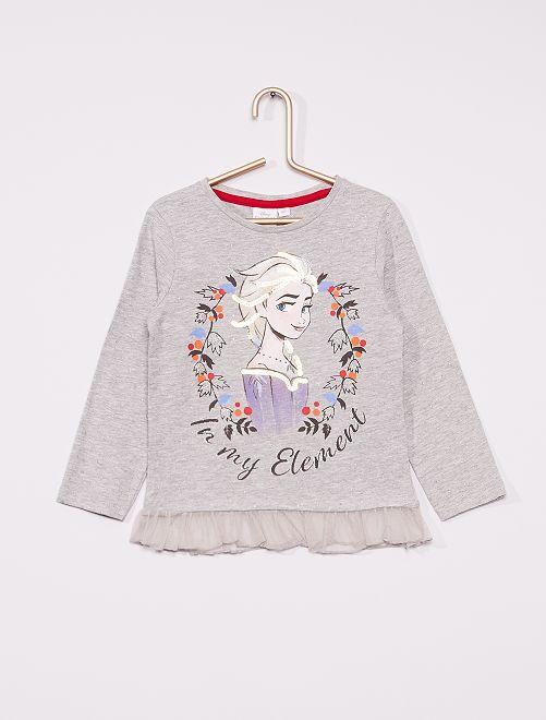 T-shirt 'La Reine des Neiges'                                         gris