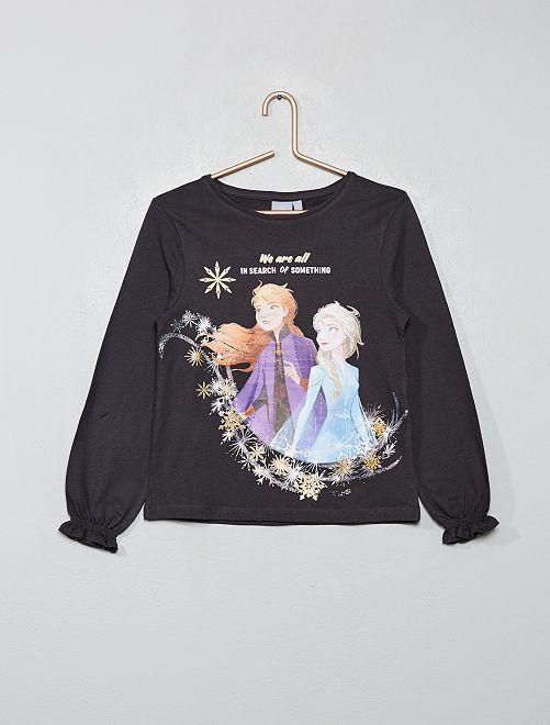T-shirt 'La Reine des neiges'                                                     gris foncé