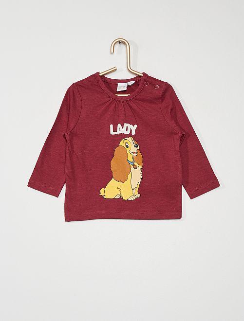 T-shirt 'Lady' de Disney                             bordeaux