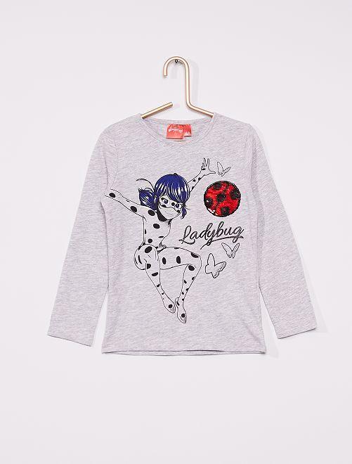 T-shirt 'Ladybug'                                         gris