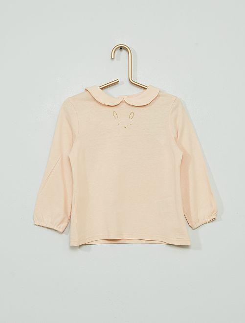 T-shirt 'lapin' éco-conçu                                                     rose