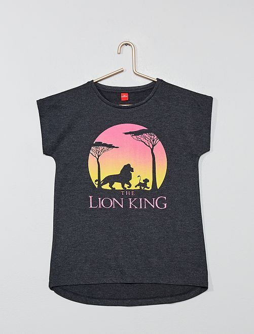 T-shirt 'Le Roi Lion' 'Disney'                             gris Fille