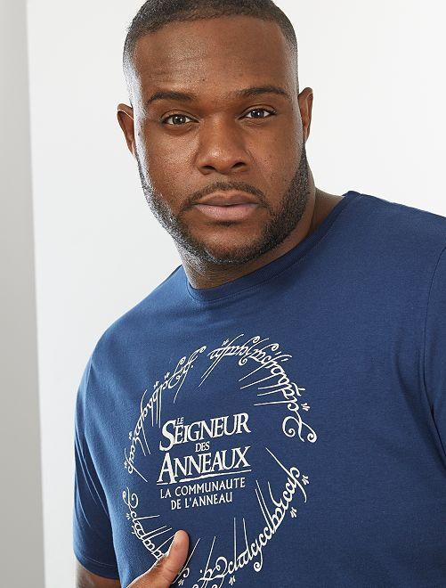 T-shirt 'Le Seigneur des anneaux'                             bleu marine
