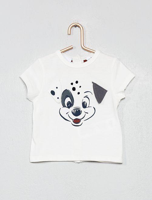 T-shirt maille fantaisie 'Simba'                     blanc