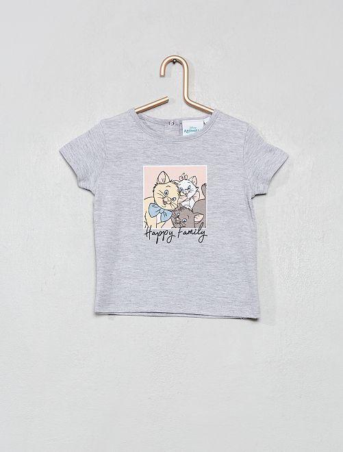 T-shirt 'Les Aristochats'                             gris chiné