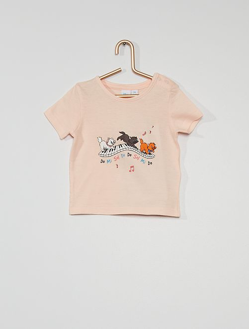 T-shirt 'Les Aristochats'                             rose