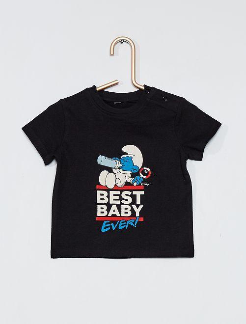 T-shirt 'Les Schtroumpfs'                             noir
