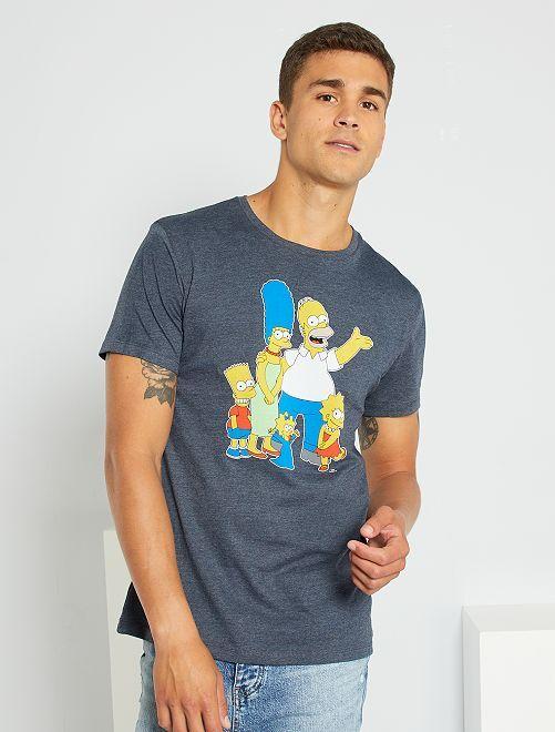 T-shirt 'Les Simpsons'                             bleu marine