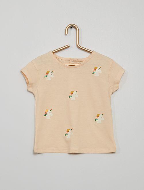 T-shirt 'Licorne'                             rose