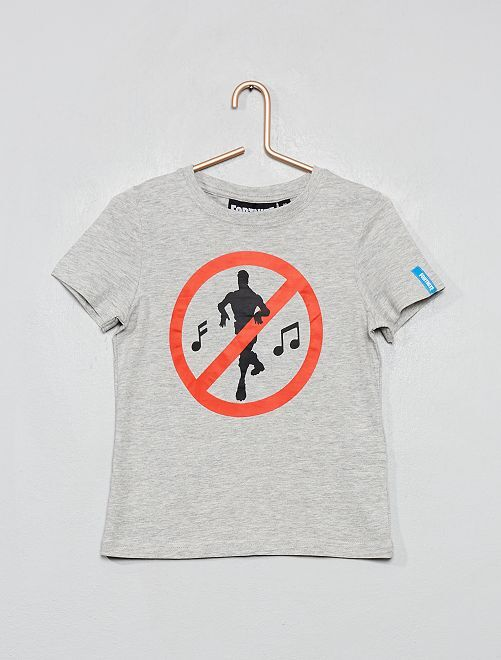 T-shirt logo 'Fortnite'                             GRIS