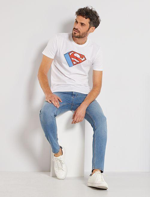 T-shirt logo 'Superman'                             blanc