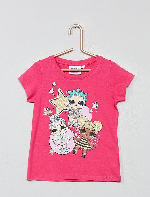 T-shirt 'L.O.L. Surprise !'                             fuchsia