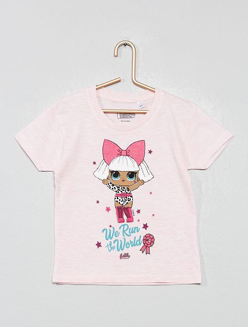 T-shirt 'L.O.L. Surprise !'                                                     rose