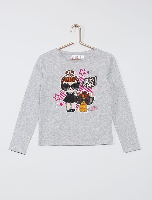 T-shirt 'L.O.L. Surprise!'                                         gris