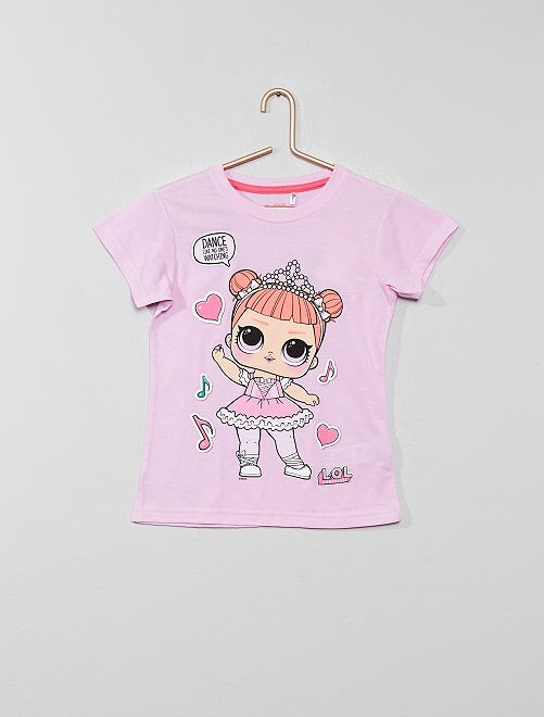 b10ff82fb2073 tee shirt rose fille - www.goldpoint.be