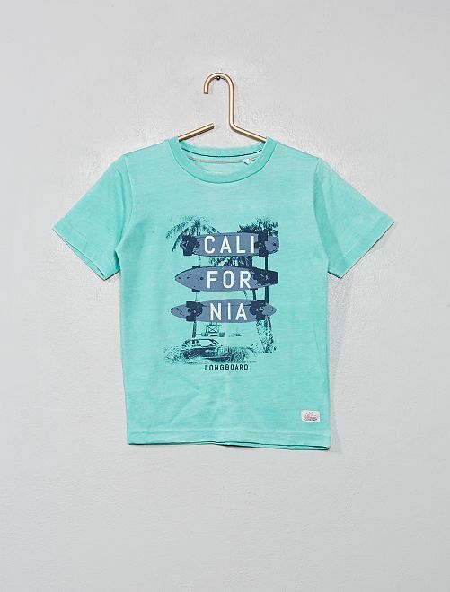 T-shirt 'Longboard'                                         bleu