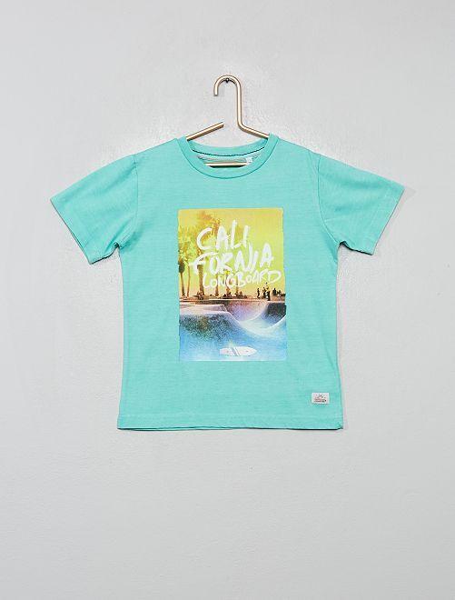 T-shirt 'Longboard'                                         bleu vert