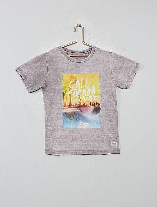 T-shirt 'Longboard'                                         gris