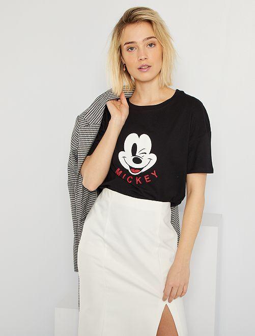 T-shirt loose 'Mickey'                                                                                                                 noir mickey