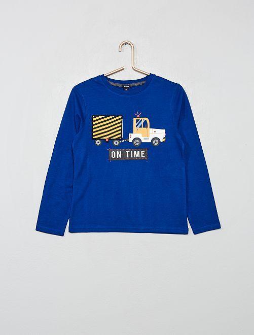 T-shirt ludique                                                                 bleu