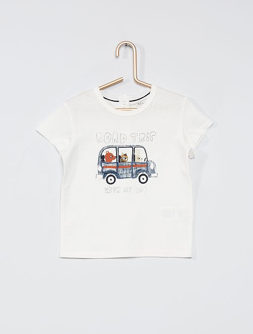 T-shirt ludique éco-conçu                                                     blanc
