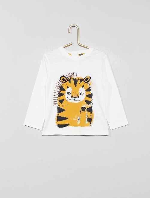 T-shirt ludique en jersey                                                     blanc cassé Bébé garçon