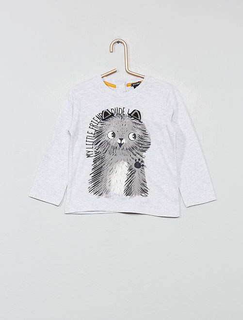 T-shirt ludique en jersey                                                     gris Bébé garçon