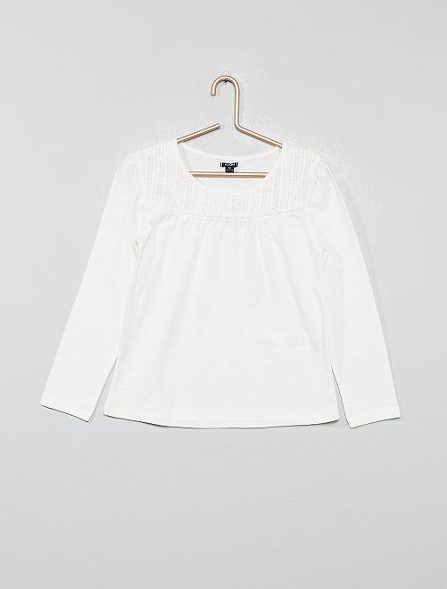 T-shirt macramé                     blanc