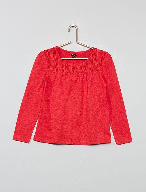 T-shirt macramé                                                                                         rouge